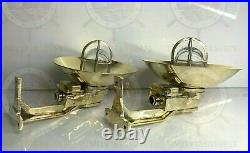 Wall Mount Solid Ship Exterior Wall Light Sconce Fixture Vintage Brass 2 Piece