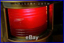 Wow! Iconic MID Century Nautical Lamp With Barometer! Sea Ship Vtg 2 Light